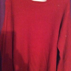 I ladies red sweater